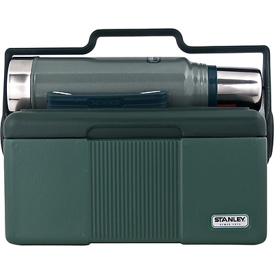 Stanley 10-01026-005 Heritage Cooler 7 quart & Classic Vacuum Insulated Bottle,