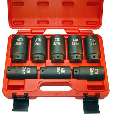 ATD Tools 8628 12-Point Axle/Spindle Nut Socket Set, 8-Piece