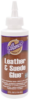 Aleene's 15594 Leather and Suede Glue, 4-Ounce