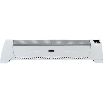 Lasko Products 5622 Low Profile Silent Room Heater, White
