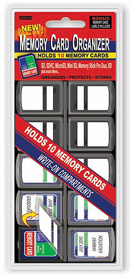 Pioneer Photo Albums 10 Compartment Memory Card Organizer