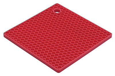 HIC Brands that Cook The Essentials Cherry Honeycomb Silicone Trivet, 7-Inch