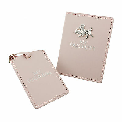 "Sophia ""pretty In Pink"" Passport Holder And Luggage Tag - Sp727"