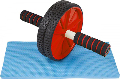 Ab Fitness Roller Wheel by Trademark Innovations, Red