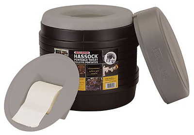 Reliance Products Hassock Portable Lightweight Self-Contained Toilet (Colors May