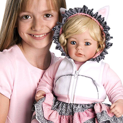 "Adora Toddler The Cat's Meow 20"" Girl Weighted Doll Gift Set for Children 6+ Hug"