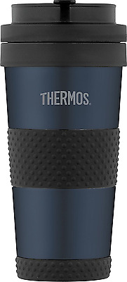 Thermos 14 ounce Vacuum Insulated Stainless Steel Tumbler, Midnight Blue