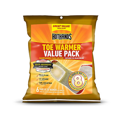 HotHands Adhesive Toe Warmer 6-Pair Value Pack