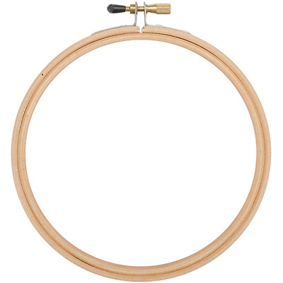 Edmunds Wood Embroidery Hoop with Round Edges, 6-Inch