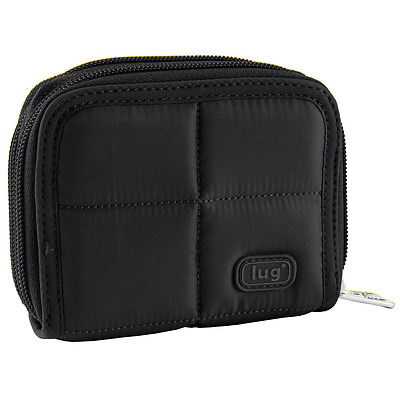 Lug Splits Compact Wallet, Midnight Black, One Size