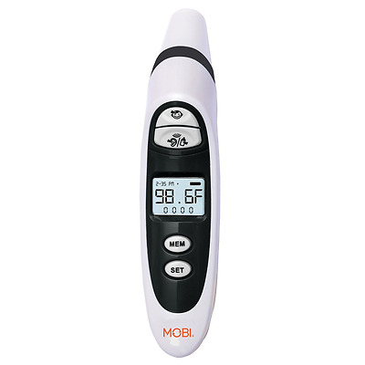 MOBI DualScan Prime Ear and Forehead Thermometer with Food and Bottle Readings,