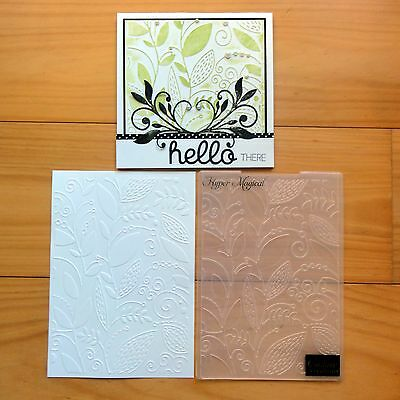 """COUTURE CREATIONS EMBOSSING FOLDER 5""""x7"""" HYPER MAGICAL BOTANICAL LEAVES - BNIP"""