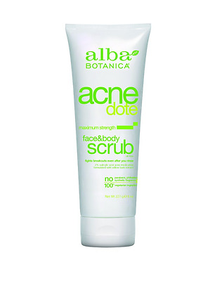 Alba Botanica Acnedote Face and Body Scrub, 8 Ounce