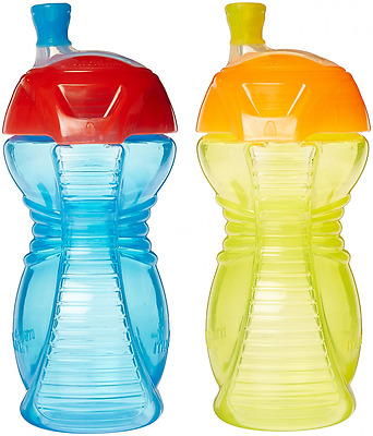 Munchkin Click Lock 9-Ounce Bite Proof Sippy Cup, Blue, Yellow, Green, Pink, Pac