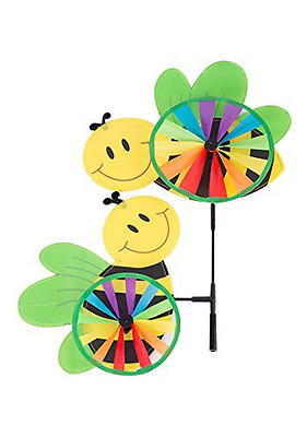 Garden Bees Windmill Pinwheel Spinner Kit for All Ages