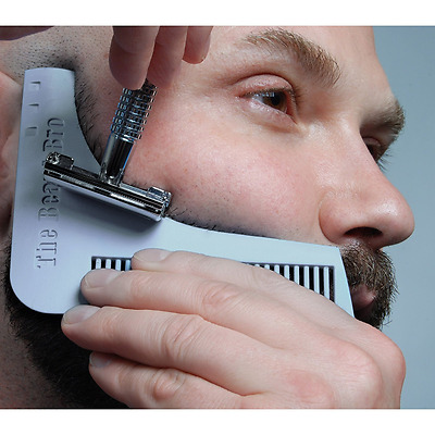 The Beard Bro- Facial Hair Shaping Tool for Perfect Lines & Symmetry (Grey)