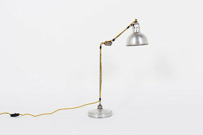 Georges Houillon Nickeled Desk Lamp 1930 - World Wide Shipping