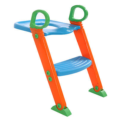 Potty Trainer Kids Toilet  Seat Chair Toddler With Ladder Step Up Training Stool