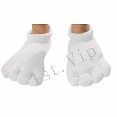 White Cartoon Big Feet Shoes Toe Slippers Oversized Padded Warm Plush Slippers