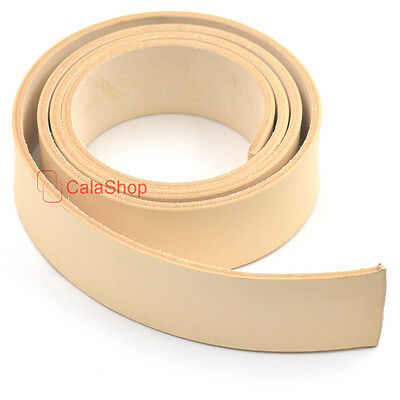 "38mm 1.5"" Vegetable Tanned Leather Natural Strip Leather Belt Straps Blank DIY"