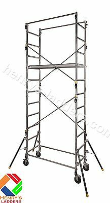 Centaure Quad'Up Aluminium DIY Scaffold Tower - 2.9m - 4.7m | 1 Person Assembly