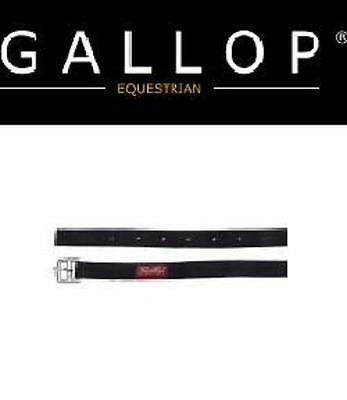 """Gallop Synthetic Stirrup Leathers, Black, 1"""" x 48"""" (Child) & 1"""" x 54"""" (Adult)"""
