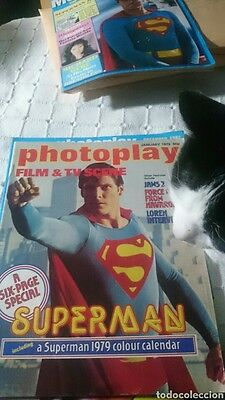 Photoplay magazine rare mag special superman 6 pages +calendar 1979 Jaws NO DVD