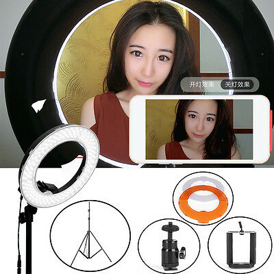 65W Ring Lamp Light Dimmable LED Ring Light with Diffuser Light Stand Adjustable