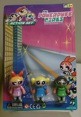 The powerpuff girls original action set, 3 figure toy new in original packaging