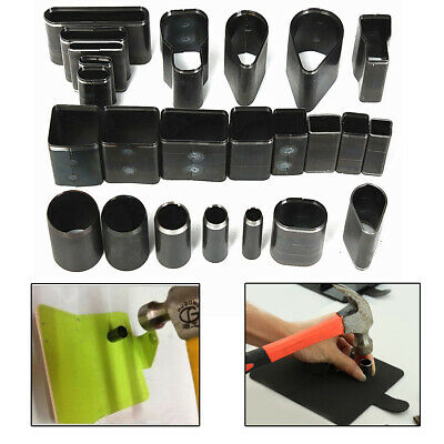24x Shape Style Hole Hollow Cutter Punch Set for Handmade Leather Craft DIY Tool