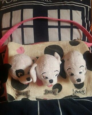 Disney Store Exclusive 101 Dalmations Puppies In A Bag    Plush Lucky Roly Patch