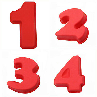 1Pcs Birthday Cake Moulds Food Grade Silicone Number  Kitchen Tools Moulds Large