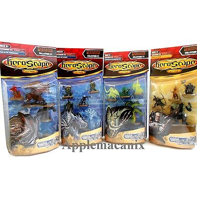 NEW Heroscape Wave 11 D1 D&D Champions of the Forgotten Realms COMPLETE SET OF 4