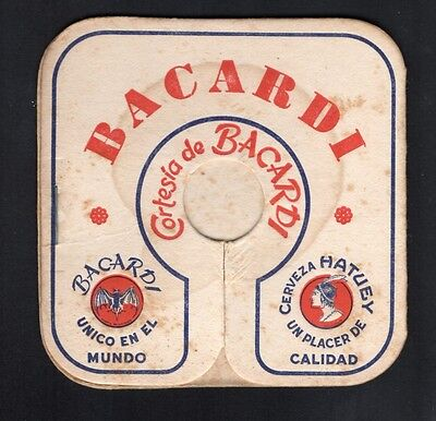 *** old beer coaster, sous-bock bacardi bière hatuey ***