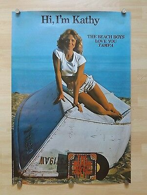 Inappropriate original 1977 advertsing poster for The Beach Boys Love You LP !