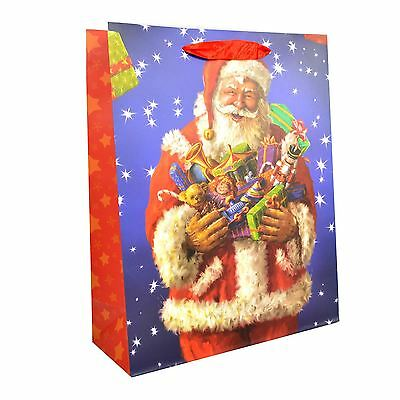 1 x Medium Classic Luxurious Christmas Gift Bag Strong Paper Bags