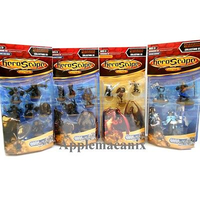 NEW Heroscape Collection Wave 13 D3 D&D Moltenclaws Invasion COMPLETE SET OF 4
