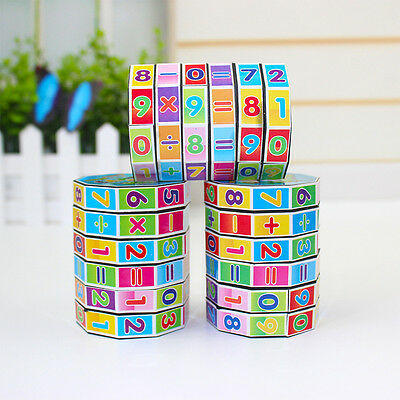 Newest Mathematics Numbers Magic Cube Puzzle Game Educational Kids Toys