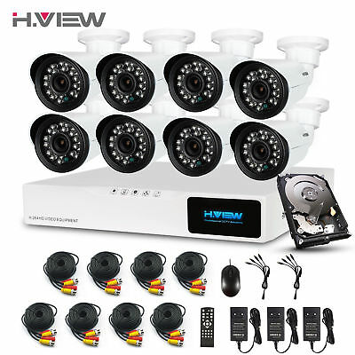 2.0MP 8CH CCTV Security Camera System HDMI 1080P DVR Kit Outdoor Camera 1TB HDD
