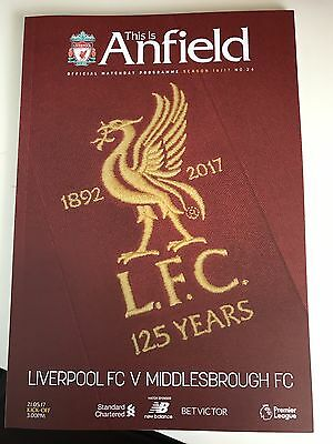 Liverpool v Middlesbrough Programme 21.05.17