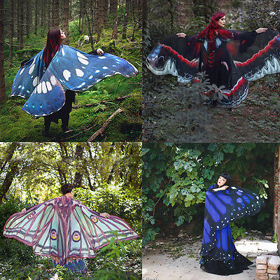 Pixie Costume Accessory Fairy Butterfly Scarf 1Pcs Shawl Scarf Nymph Wings