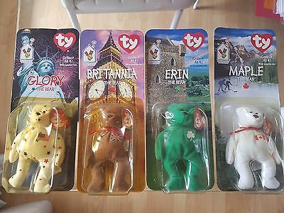 RETIRED TY MCDONALDS BEANIE BABIES BRITANNIA ERIN GLORY MAPLE 1998 Original Pack