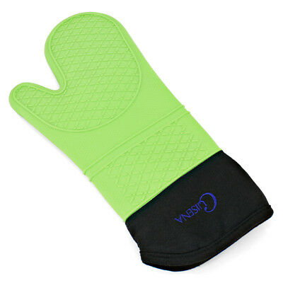 NEW Cuisena Silicone & Cotton Oven Glove Green