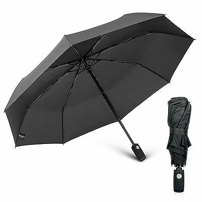 Savisto Mini Compact Umbrella Automatic Folding Windproof Travel Mens Ladies