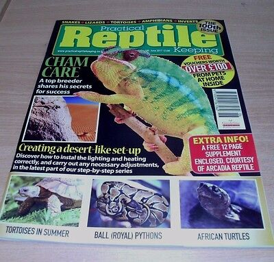 Practical Reptile Keeping magazine JUN 2017: 100th Issue, Desert-Like Set-Up &