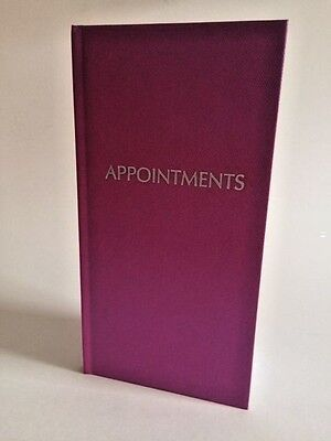 3 Column Appointment Book - Shiny Fuschia - Hairdressers, Salons, Nail Tech ..