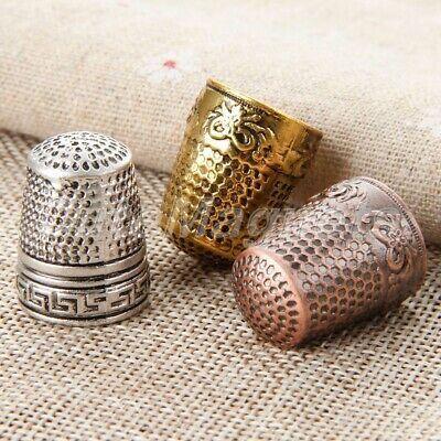 1 X Metal Thimbles Finger Sewing Grip Shield Protector For Pin Needle Craft DIY