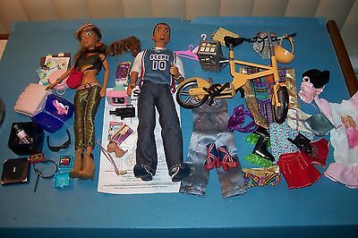 My Scene Sutton And Madison Dolls With Ride In The Park Bike Set Plus Much More