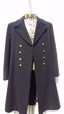 Vintage 1980's French Military pure wool Naval overcoat. Size 40.