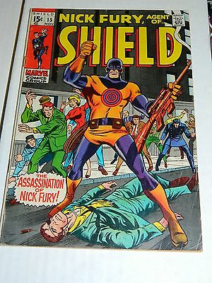 NICK FURY AGENT OF SHIELD #15 (Marvel 1969) GD 1ST Fury Bullseye, not daredevil.